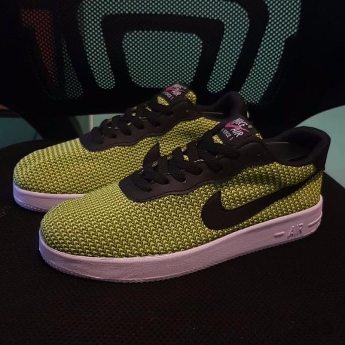 harga Sepatu pria wanita unisex sneaker nike air force 1 rajut hijau Tokopedia.com