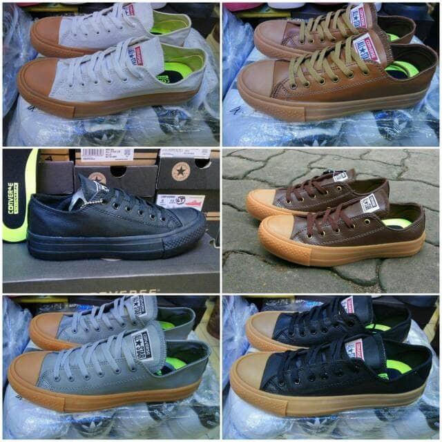 Jual Sepatu Converse All Star Leather Kulit Wanita Grade Original GO ... 6f52e14614