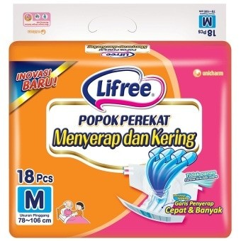 harga Lifree popok perekat m18 Tokopedia.com