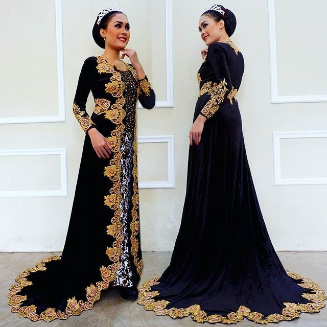 Jual Kebaya Bludru Modern Cantik Baju Resepsi Jawa Murah Gaun Pengantin Kota Surakarta Kebaya Modern Murah Tokopedia