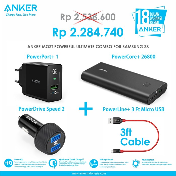 anker most powerful ultimate combo for samsung s8 iphone 8