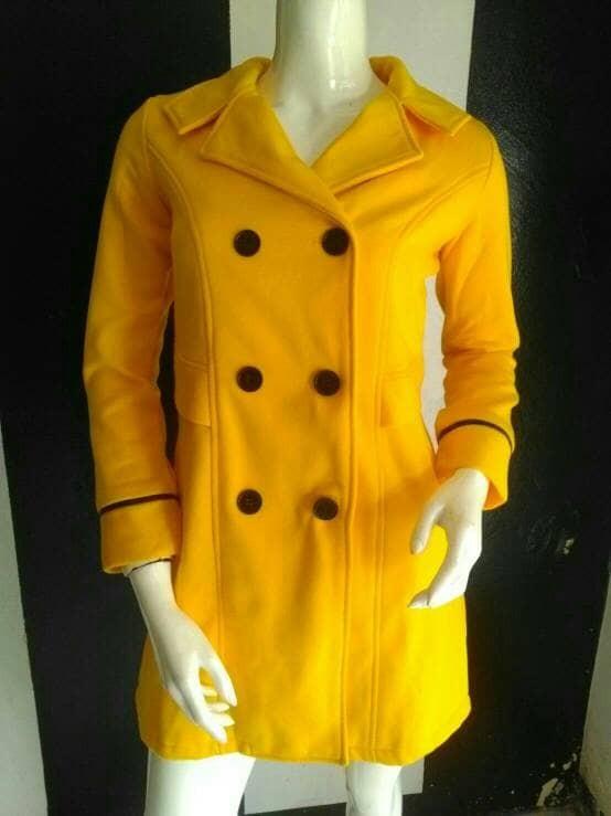 harga Coat wanita jessie yellow - jaket cewek kuning korea winter fleece Tokopedia.com