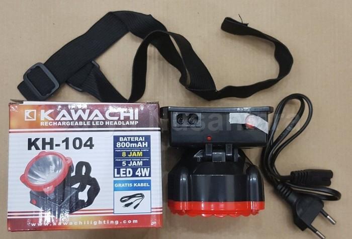 harga Senter Kepala Led Cas Isi Ulang Kawachi 4w 4 Watt Kh 104 Tokopedia.com