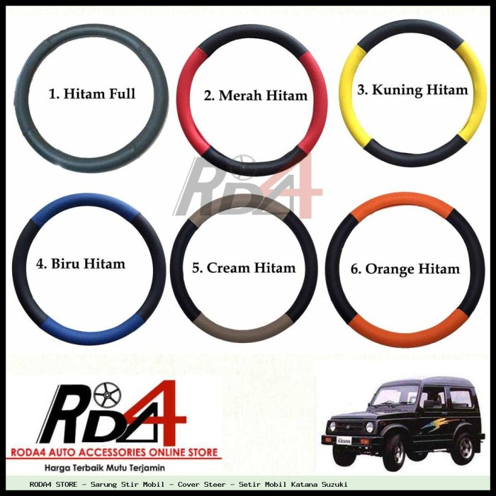 harga Sarung stir mobil - cover steer - setir mobil katana suzuki Tokopedia.com