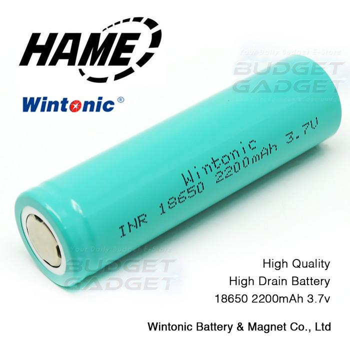 Lithium Ion Battery >> Jual Hame Lithium Ion Battery Charge 18650 3 7v 2200mah Flat Top Jakarta Barat Budgetgadget Tokopedia