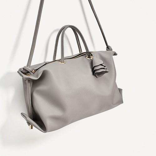 tote bag zara import tas wanita 7008 grey TAG8007