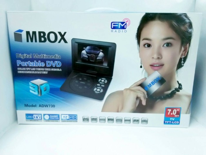 Dvd portable 7  mbox adw730