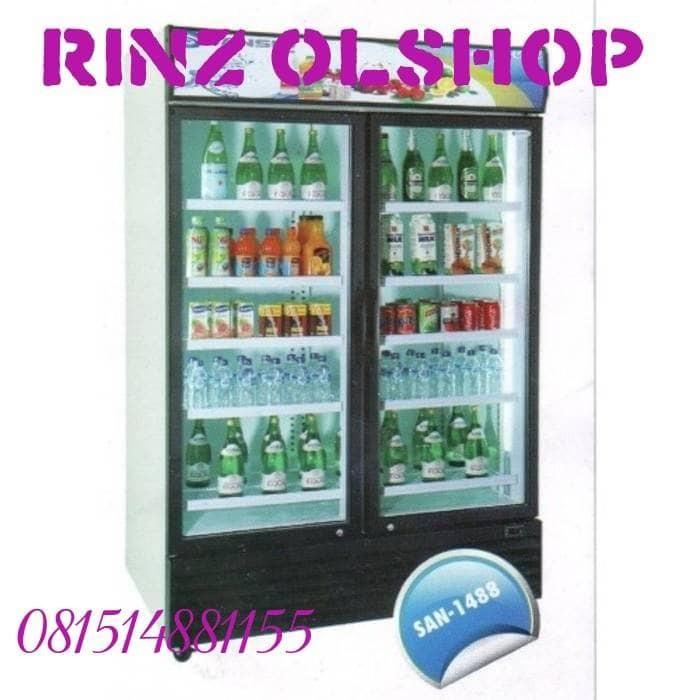 harga Showcase display cooler 2 pintu sansio san-1488 Tokopedia.com