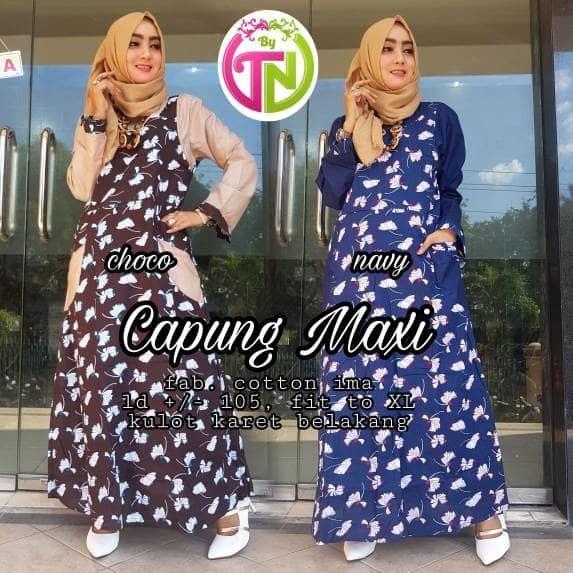 Jual Beli Grosir Gamis Katun Ima Platinum Kombi Batik Dress Premium