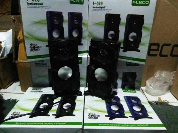 harga Speaker multimedia woofer aktif fleco f026 usb termurah banget Tokopedia.com