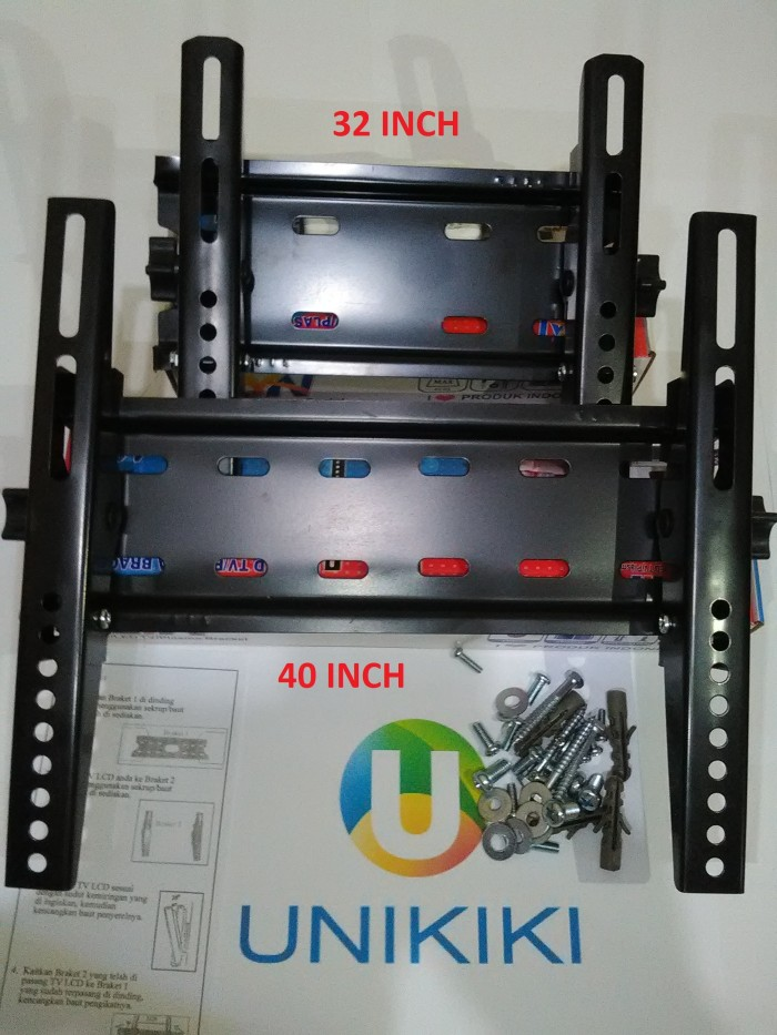 harga Promo 2 unit bracket braket breket tv lcd led 14-32 inch & 17-40 inch Tokopedia.com