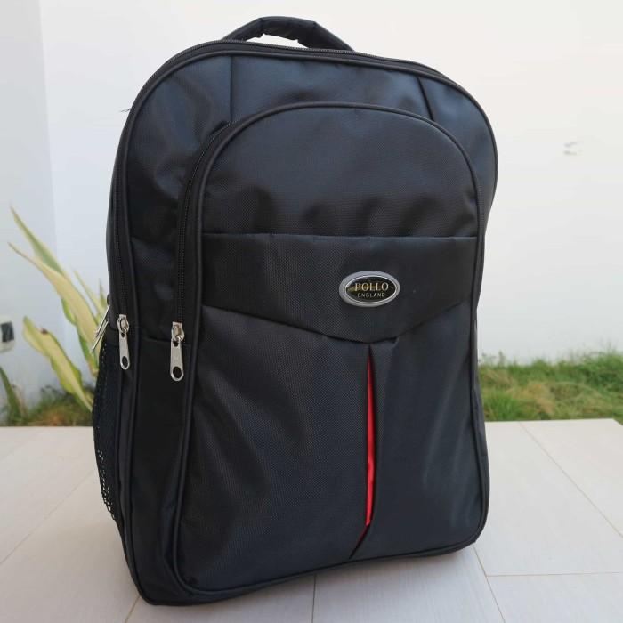 harga Jual tas ransel laptop kerja kantor kuliah sekolah model polo hitam Tokopedia.com