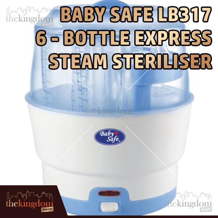 Foto Produk Baby Safe LB317 6-bottle Express Steam Steriliser Alat Steril Botol dari The Kingdom Shop