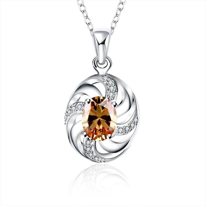 Tiaria necklace spn036-c aksesoris kalung lapis silver