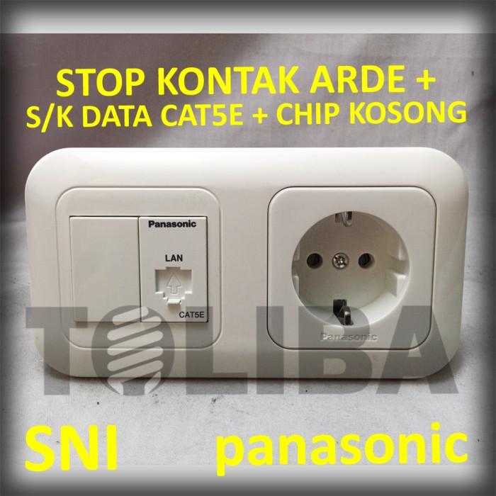Stopkontak arde non cp + stop kontak data cat5e +chip kosong panasonic