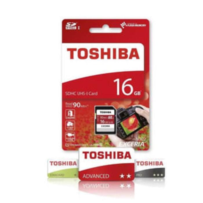 harga Toshiba sdcard 16gb speed 90mbps uhs1 class 10 garansi resmi Tokopedia.com