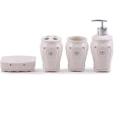 harga Home line peralatan kamar mandi keramik set / 4 pcs bathroom set Tokopedia.com
