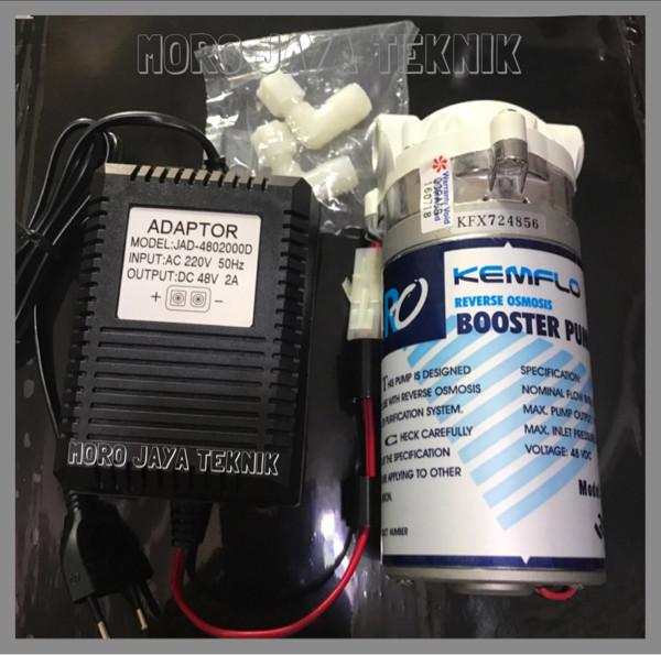 harga Pompa kemflo 48v + adaptor 2a booster pump reverse osmosis Tokopedia.com