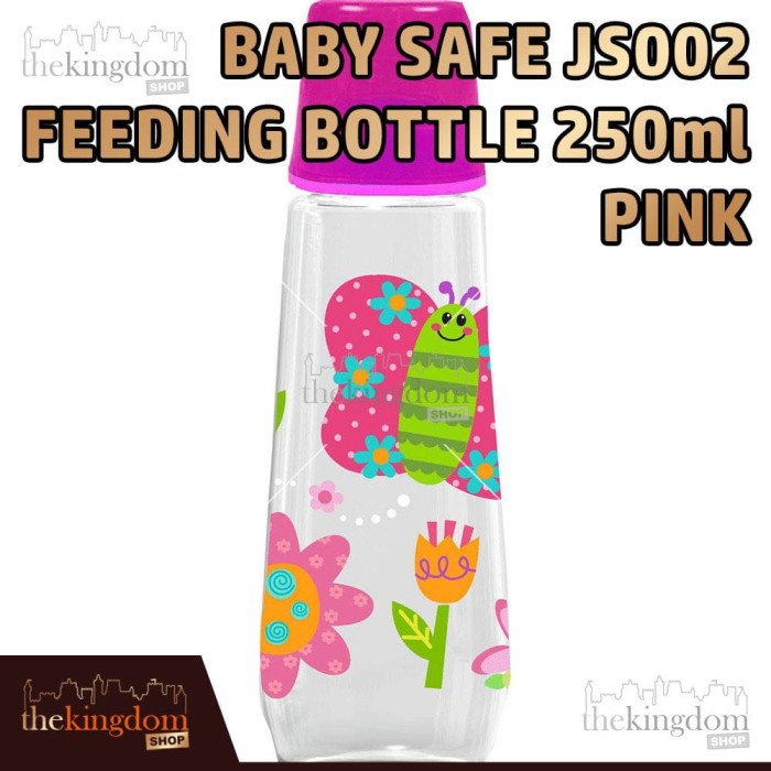 Baby Safe JS002 Feeding Bottle 250ml Pink Botol Susu Anak Merah Muda