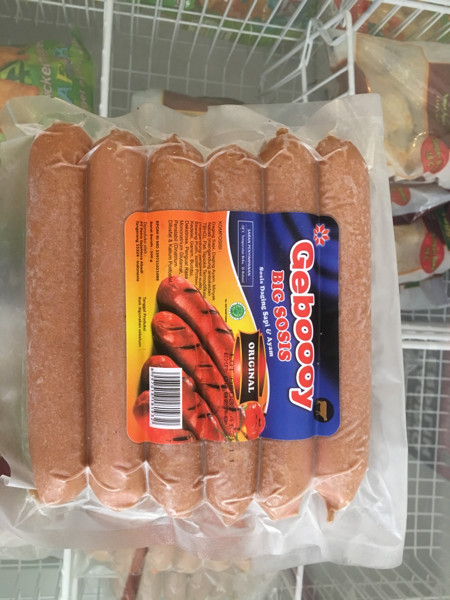 harga Geboooy big sosis daging sapi dan ayam 500 gram Tokopedia.com