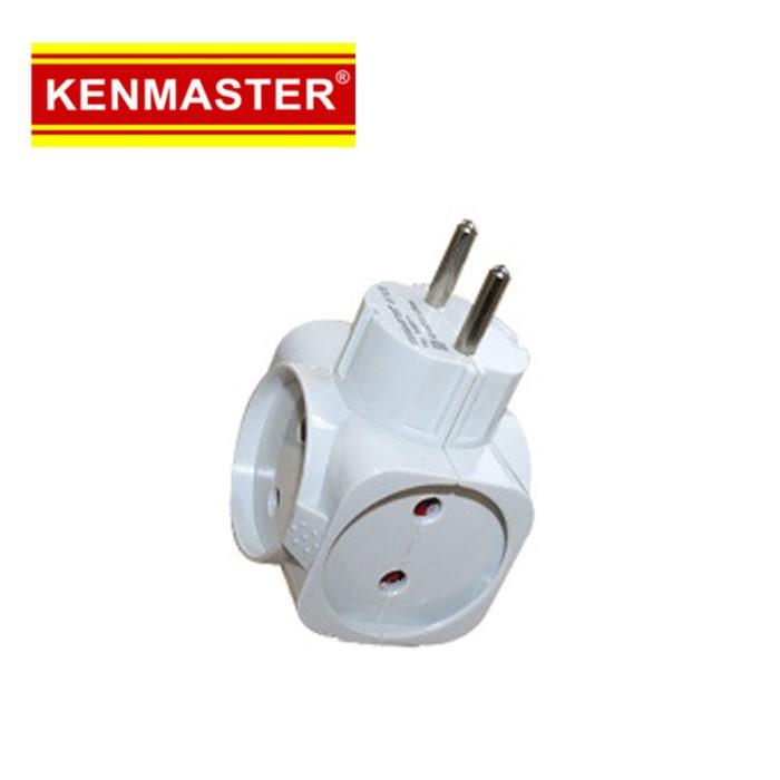 Foto Produk Kenmaster Steker 418B / Kenmaster steker Adaptor 4arah colokan listrik dari Dbestcompushop