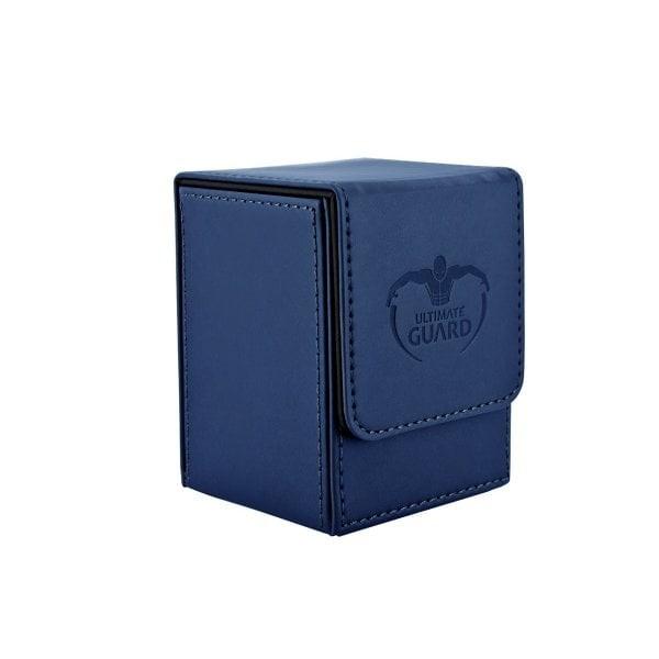 ultimate guard (dark blue) flip deck case leatherette 80+