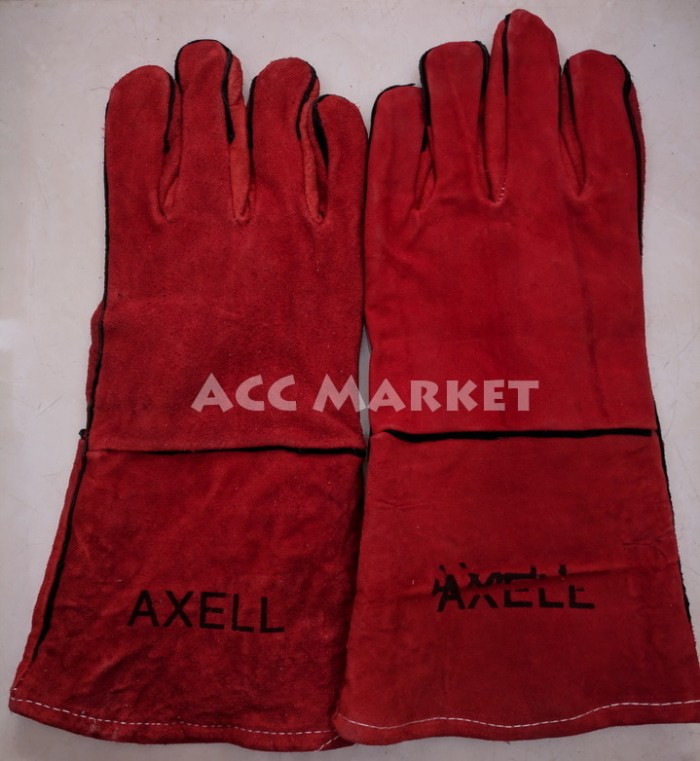 harga Sarung tangan 14   glove kulit leather las welding welder kovet safety Tokopedia.com