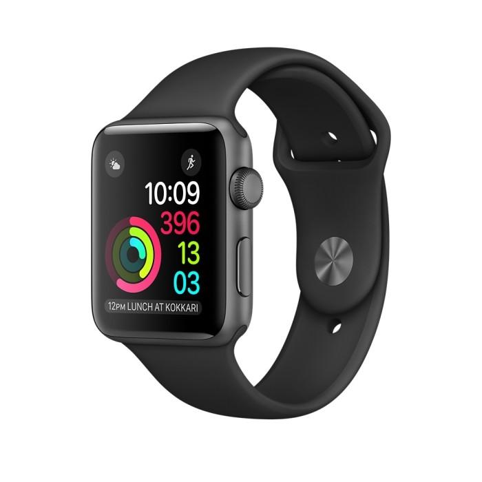 [TERMURAH] Apple Watch 2 Series 1 Aluminum Case Black Sport Band 38mm