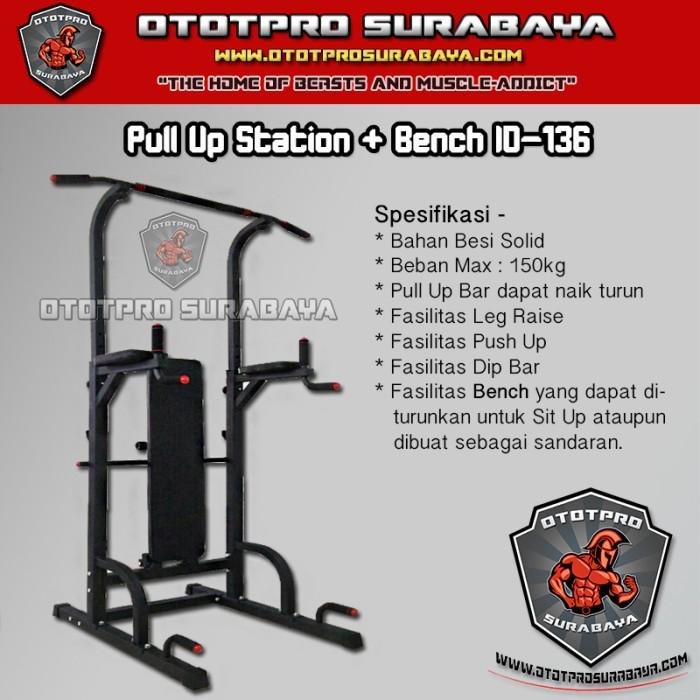 Jual Pull Up Station + Bench ID-136 /Chin Up/Dip/Dipping/Push Up/Sit Up/Gym  - Kota Surabaya - Ototpro Surabaya Muscle | Tokopedia