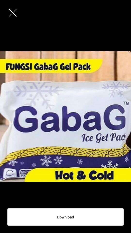 ice gel gabag besar 500ml/gabag ice gel 500ml/ice gel besar