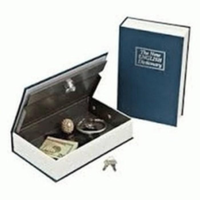 harga Book safe 180 x 155 x 55 mm buku deposit mini brankas kunci rahasia Tokopedia.com