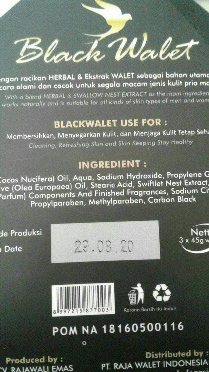Jual Sabun Black Walet Grosir Batang Murah Muka