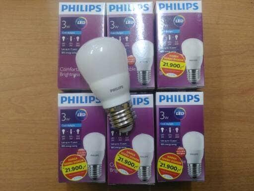 harga Bohlam lampu led philips 3 watt 3 w Tokopedia.com