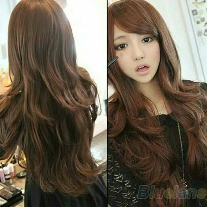 Dijual Wig Rambut Palsu Wanita Model Gelombang Panjang Berwarna Di ... f7885129f8