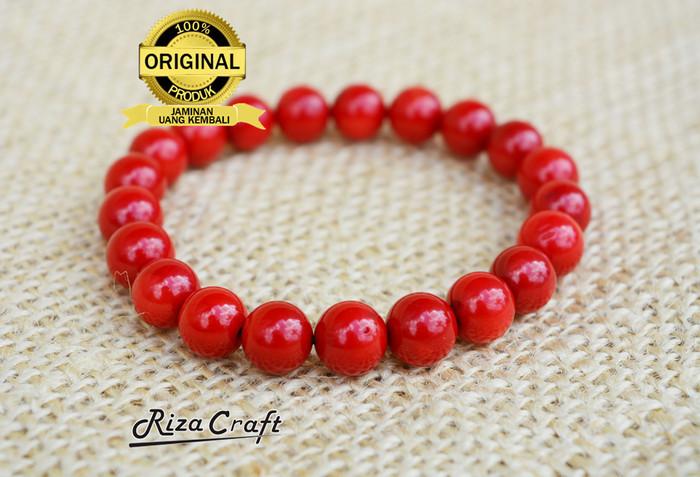 harga Gelang batu pria wanita akik marjan merah karang red coral asli alam Tokopedia.com