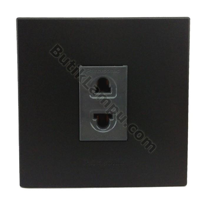 Foto Produk Stop Kontak Universal Panasonic Style Black Series dari butiklampu
