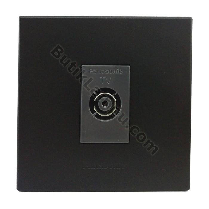Foto Produk Outlet TV Socket TV Panasonic Style Black Series dari butiklampu
