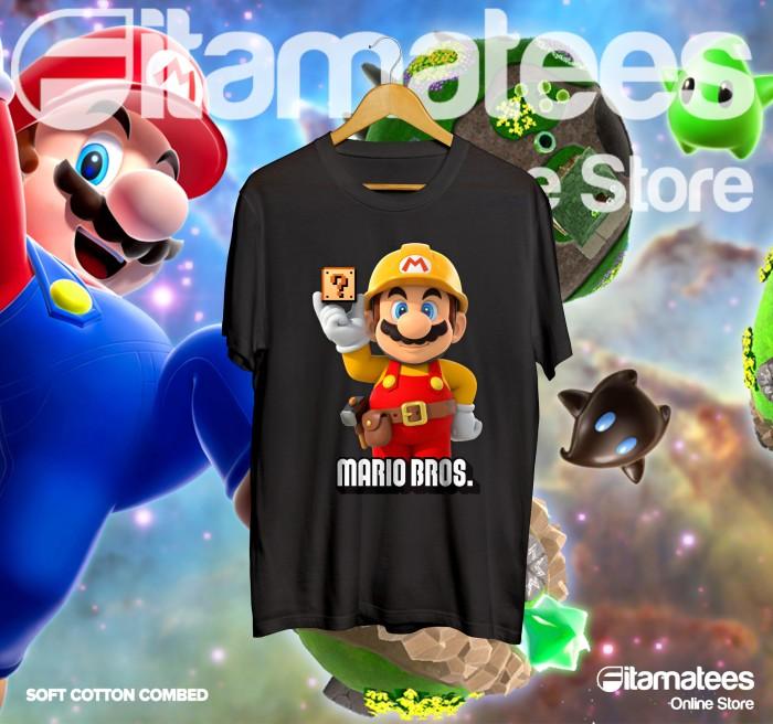 harga Baju kaos game super mario bros mb010 Tokopedia.com