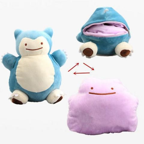 harga 142 - boneka snorlax boneka ditto 2 in 1 boneka pokemon Tokopedia.com