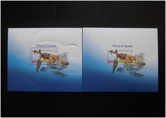Perangko flora & fauna 2014  - 2 pcs -  ss .