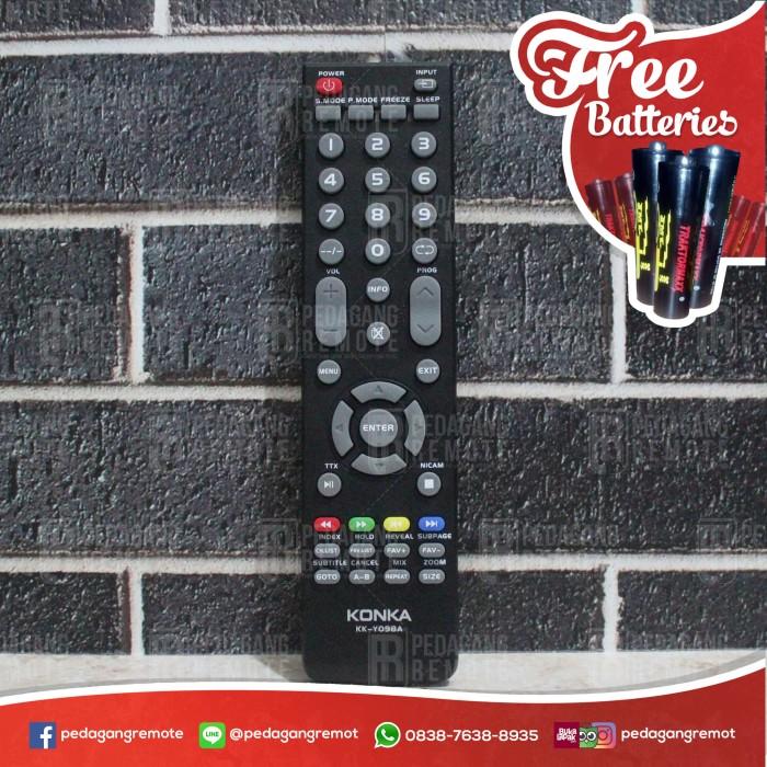 harga Remot Remote Tv Konka Lcd Led Kk-y098a Ori Original Asli Tokopedia.com