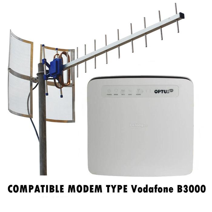 Antena Yagi Untuk Modem Vodafone B3000 TXR 185 Kabel 25 M