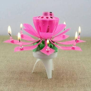 Buyincoins Selamat Ulang Tahun Bunga Yang Indah Mekar Teratai Lilin Source · LILIN ULANG TAHUN MUSIK