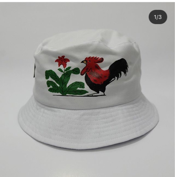 Jual topi ayam bucket hat ayam jago kamengski - murahseqali  bb6816e110f