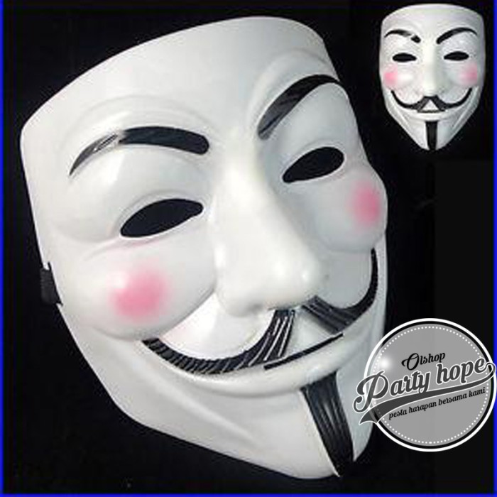 ... Harga Skytop Topeng Vendetta Mask Occupy Anonymous Cosplay Putih Dan Source Topeng anonymous topeng vendetta