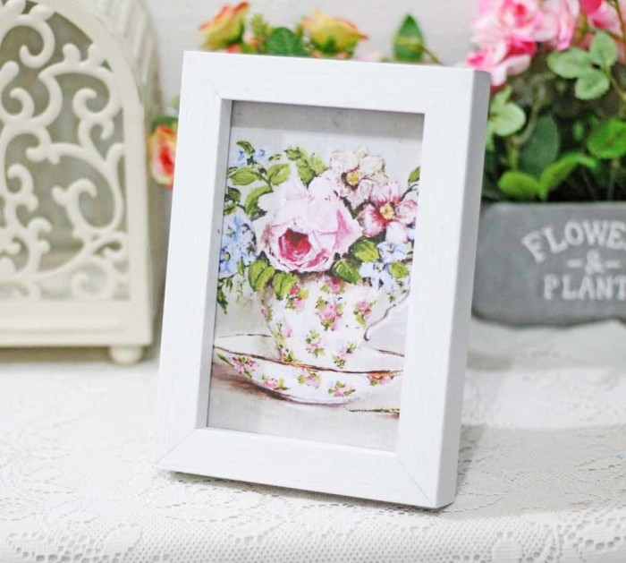 harga Lukisan bunga shabby chic / painting flower vintage rustic 14x18cm h2 Tokopedia.com