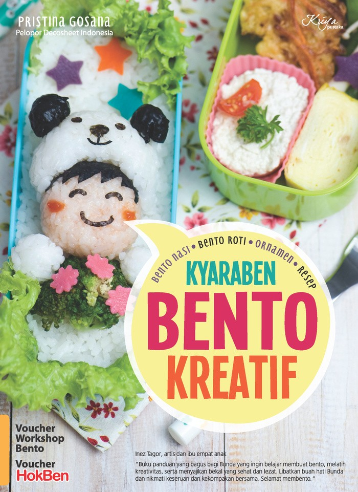 harga Buku Resep Memasak Nasi Bekal Sarapan Anak : Kyaraben Bento Kreatif Tokopedia.com