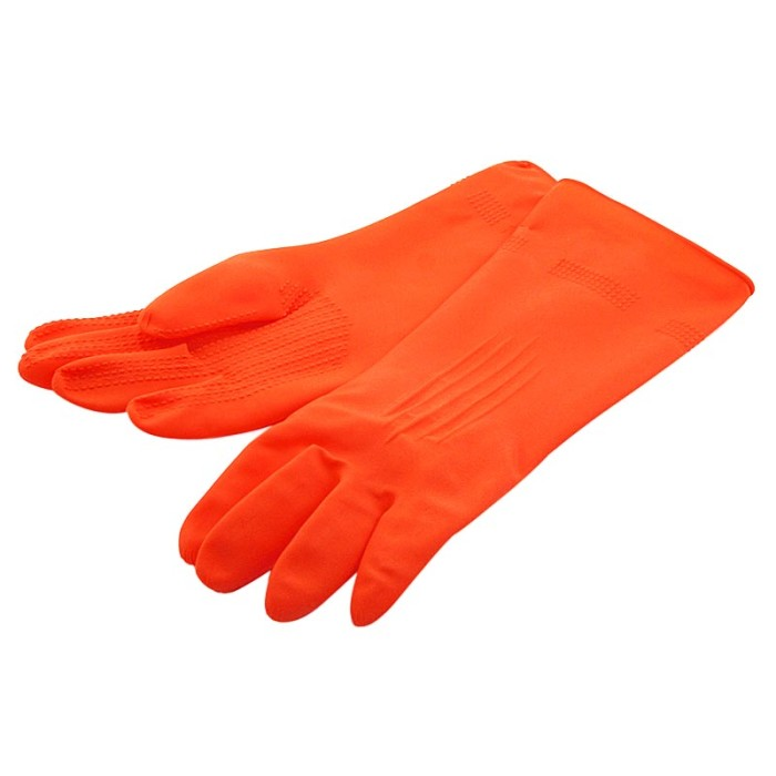 harga Young Young Latex Gloves Il Sarung Tangan 8.5inch Karet Rubber Orange Tokopedia.com