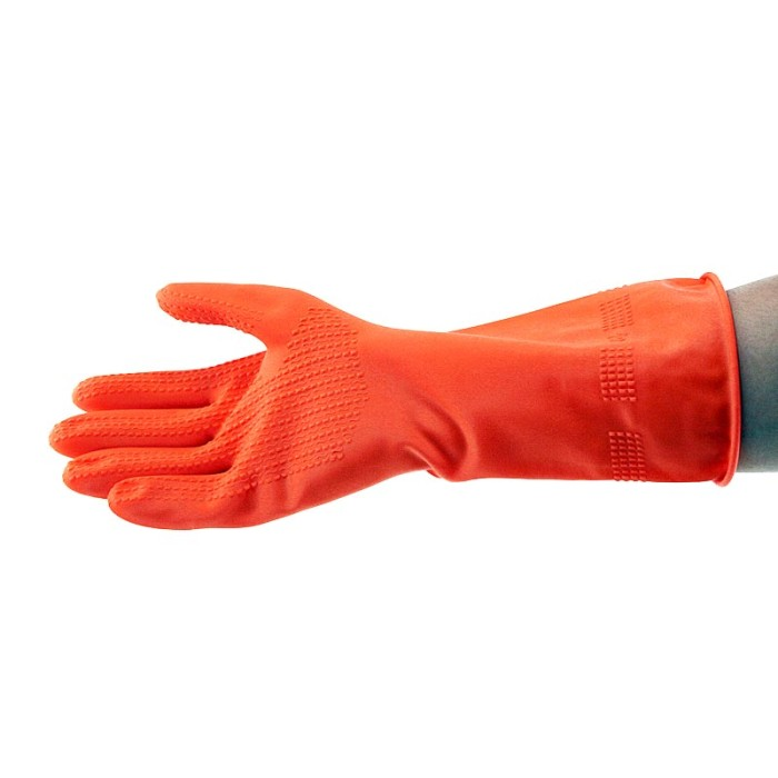 YOUNG YOUNG Latex Gloves IL SARUNG TANGAN 8.5INCH Karet Rubber Orange