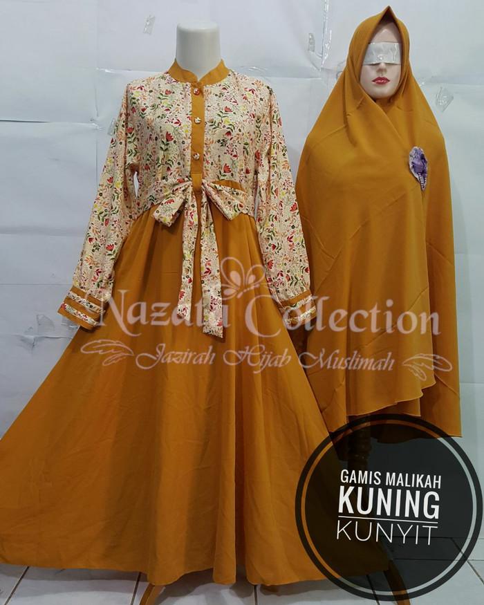 Jual Gamis Syari Malikah Kuning Kunyit Set Cadar Jakarta Selatan Bdc Shop Tokopedia